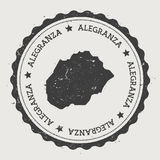 Αυτοκόλλητη ετικέττα Alegranza διανυσματική απεικόνιση
