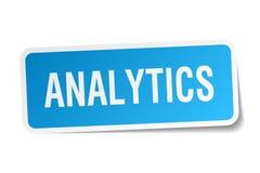 Αυτοκόλλητη ετικέττα Analytics Στοκ Εικόνα
