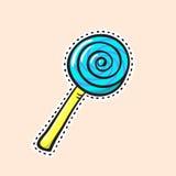 Αυτοκόλλητη ετικέττα Lollipop Στοκ Εικόνες