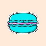 Αυτοκόλλητη ετικέττα Macaron στοκ εικόνα