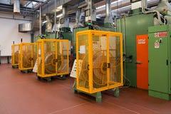 Αυτοματοποιημένες εγκαταστάσεις εργοστασίων για το ηλεκτρικό συστατικό Στοκ Φωτογραφίες