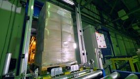 Αυτοματοποιημένος εξοπλισμός αποθήκευσης σε μια αποθήκη εμπορευμάτων διανομής απόθεμα βίντεο