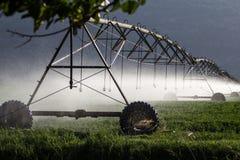 Αυτοματοποιημένο σύστημα ψεκαστήρων άρδευσης καλλιέργειας σε λειτουργία Στοκ εικόνα με δικαίωμα ελεύθερης χρήσης