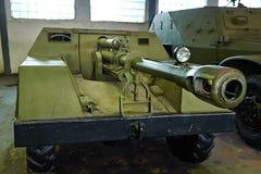 Αυτοπροωθούμενο πυροβόλο όπλο ksp-76 ροδών Στοκ εικόνες με δικαίωμα ελεύθερης χρήσης