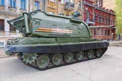 Αυτοπροωθούμενο howitzer msta-s 152 χιλ. όνομα του ΝΑΤΟ - αγρόκτημα π M1990 Στοκ φωτογραφία με δικαίωμα ελεύθερης χρήσης