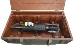 Αυτοσχεδιασμένος εκρηκτικός μηχανισμός IED από το βλήμα δεξαμενών στοκ εικόνες