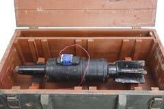 Αυτοσχεδιασμένος εκρηκτικός μηχανισμός IED από το βλήμα δεξαμενών στοκ εικόνα