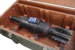 Αυτοσχεδιασμένος εκρηκτικός μηχανισμός IED από το βλήμα δεξαμενών στοκ φωτογραφία