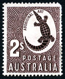 Αυτοώμον αυστραλιανό γραμματόσημο τέχνης Στοκ εικόνες με δικαίωμα ελεύθερης χρήσης