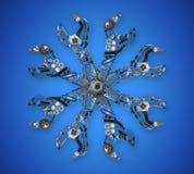 Αυτόματα στοιχεία ανταλλακτικών στο γαλλικό κλειδί Στοκ φωτογραφία με δικαίωμα ελεύθερης χρήσης