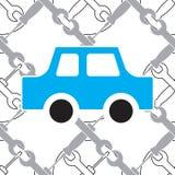 Αυτόματη υπηρεσία ή άνευ ραφής σχέδιο επισκευής αυτοκινήτων Στοκ Εικόνες