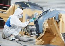 Αυτόματος μηχανικός προφυλακτήρας αυτοκινήτων ζωγραφικής Στοκ εικόνα με δικαίωμα ελεύθερης χρήσης