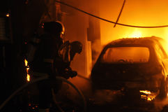Αυτόματο κατάστημα επισκευής πυρκαγιάς Στοκ Φωτογραφίες