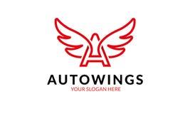 Αυτόματο πρότυπο λογότυπων φτερών Στοκ Εικόνα