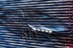 Αυτόνομη οδήγηση με το αυτοκίνητο Στοκ φωτογραφία με δικαίωμα ελεύθερης χρήσης