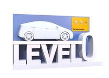 Αυτόνομη ταξινόμηση αυτοκινήτων του επιπέδου 0 απεικόνιση αποθεμάτων