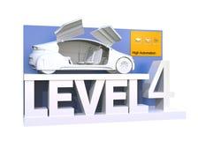 Αυτόνομη ταξινόμηση αυτοκινήτων του επιπέδου 4 ελεύθερη απεικόνιση δικαιώματος