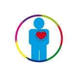 Αυτός ανθρώπινη καρδιά σε κίνδυνο Στοκ Φωτογραφίες