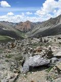 Θιβετιανά βουνά Στοκ Εικόνα