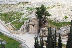 Αυτός ο περίκομψος τάφος στο νεκροταφείο ανήκει στο Zachariah ben Jehoiada, ο πατέρας του John ο βαπτιστικός, το υποστήριγμα των  στοκ εικόνα