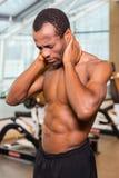 Αυτός ο φοβερός πόνος σε έναν λαιμό! Στοκ Φωτογραφία