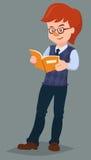 Αυτός που διαβάζει ένα βιβλίο απεικόνιση αποθεμάτων