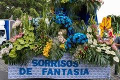 Αυτός φεστιβάλ λουλουδιών της Μαδέρας, Φουνκάλ, Μαδέρα, Πορτογαλία Στοκ Φωτογραφίες