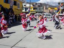 Αυτόχθονες εορτασμοί Huaraz, Περού στοκ φωτογραφία