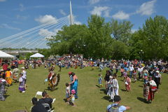 Αυτόχθων ζωντανός εορτασμός ημέρας Winnipeg Στοκ εικόνα με δικαίωμα ελεύθερης χρήσης