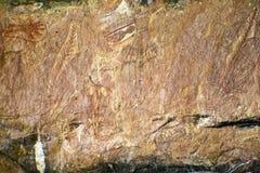 Αυτόχθων τέχνη βράχου Στοκ Φωτογραφία