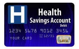 Αυτό είναι ένας γενικός λογαριασμός ταμιευτηρίου υγείας ΕΧΕΙ τη χρεωστική κάρτα στοκ εικόνες