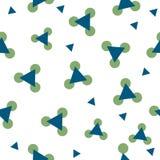 Αυτό είναι ένα θαυμάσιο, άνευ ραφής σχέδιο των πράσινων κύκλων και των μπλε τριγώνων σε ένα άσπρο υπόβαθρο Στοκ φωτογραφία με δικαίωμα ελεύθερης χρήσης
