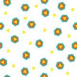 Αυτό είναι ένα θαυμάσιο, γεωμετρικό σχέδιο των τριγώνων και hexagons Στοκ Εικόνες
