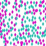Αυτό είναι ένα όμορφο, άνευ ραφής σχέδιο από τα γεωμετρικά rhombuses Το αφηρημένο σχέδιο αποτελείται από τα ιώδη και πράσινα χρώμ στοκ φωτογραφίες