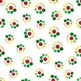 Αυτό είναι ένα όμορφο, άνευ ραφής σχέδιο από τους γεωμετρικούς πράσινους και καφετιούς κύκλους στο άσπρο υπόβαθρο στοκ φωτογραφίες