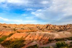 Αυτό είναι εθνικό πάρκο Badlands στη νότια Ντακότα Υπάρχουν θεαματικοί σχηματισμοί βράχου, φαράγγια, και πυραμίδες Στοκ εικόνες με δικαίωμα ελεύθερης χρήσης