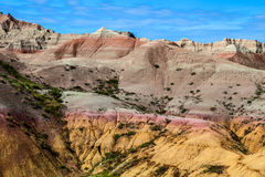 Αυτό είναι εθνικό πάρκο Badlands στη νότια Ντακότα Υπάρχουν θεαματικοί σχηματισμοί βράχου, φαράγγια, και πυραμίδες Στοκ Φωτογραφία