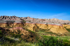 Αυτό είναι εθνικό πάρκο Badlands στη νότια Ντακότα Υπάρχουν θεαματικοί σχηματισμοί βράχου, φαράγγια, και πυραμίδες Στοκ φωτογραφία με δικαίωμα ελεύθερης χρήσης