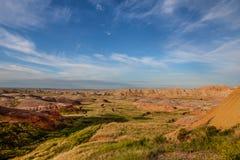 Αυτό είναι εθνικό πάρκο Badlands στη νότια Ντακότα Υπάρχουν θεαματικοί σχηματισμοί βράχου, φαράγγια, και πυραμίδες Στοκ Φωτογραφίες