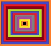 Αυτό είναι η εικόνα πολύ τετραγώνου που είναι σε πολλά χρώματα διανυσματική απεικόνιση