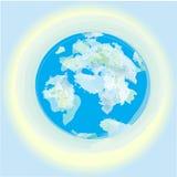 Αυτό είναι ο πλανήτης Γη μας, μπλε θάλασσες, ωκεανοί στο μπλε υπόβαθρο του κόσμου στοκ εικόνες