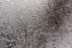 Αυτό είναι παγωμένο σχέδιο στο παράθυρο γυαλιού Στοκ Φωτογραφία