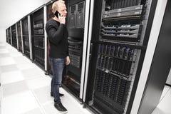 Αυτό εργασίες συμβούλων στη μεγάλη επιχείρηση datacenter Στοκ Εικόνα
