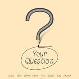 Αυτό που είναι η απάντησή σας από το ερωτηματικό Στοκ φωτογραφία με δικαίωμα ελεύθερης χρήσης