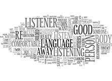Αυτό που κάνει τη γλώσσα του σώματος σας πέστε το σύννεφο του Word διανυσματική απεικόνιση