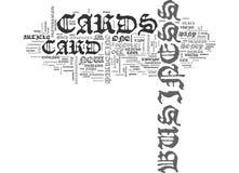 Αυτό που κάνει τη επαγγελματική κάρτα σας πέστε το σύννεφο του Word διανυσματική απεικόνιση