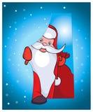 Αυτό το Santa έρχεται στο σπίτι σας με τα όμορφα δώρα Στοκ εικόνα με δικαίωμα ελεύθερης χρήσης