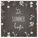 Αφήστε το καλοκαίρι να αρχίσει Στοκ Φωτογραφία