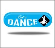 Αφήστε το πράσινο δημιουργικό ρεαλιστικό απομονωμένο κουμπί Ιστού χορού ` s διανυσματική απεικόνιση