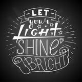 Αφήστε το φως σας να λάμψει φωτεινός Στοκ Εικόνα
